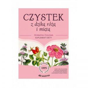 Herbatka ziołowa CZYSTEK Z DZIKĄ RÓŻĄ I MIĘTĄ - 40 saszetek
