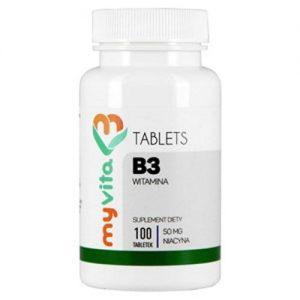 Witamina B3 (niacyna) 50 mg - 100 tabl