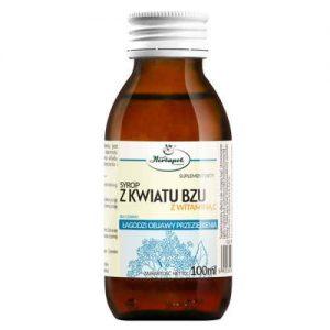 SYROP Z KWIATU BZU Z WITAMINĄ C 100 ml - łagodzi objawy przeziębienia