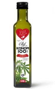 OLEJ Z KONOPI 100%, 250 ml Virde