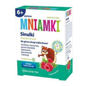 SINULKI - na górne drogi oddechowe - 40 pastylek do ssania