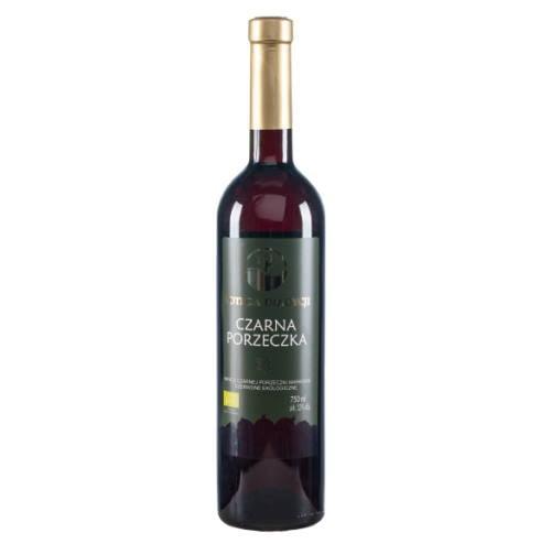 Wino ekologiczne z czarnej porzeczki słodkie 750ml