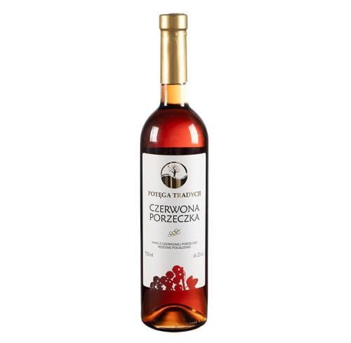 Wino z czerwonej porzeczki półsłodkie 750ml